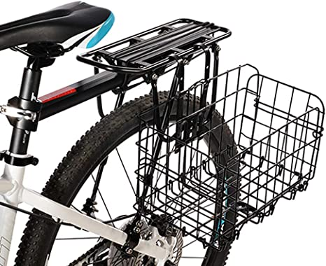 YSXBasket1 Cesta Plegable de Alambre de Metal para Bicicleta de ...