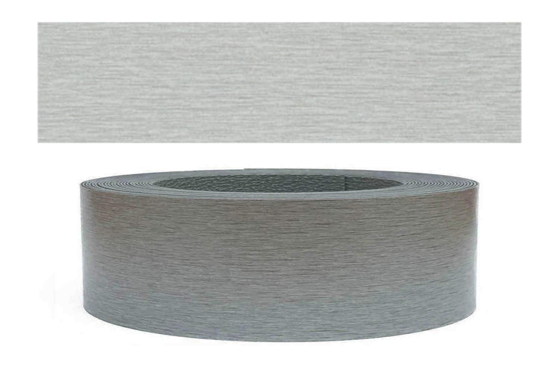 Mprofi (10m rollo) Cantoneras laminadas melamina para rebordes con Greve Acero 45 mm