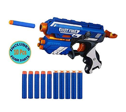 Storio Toys Blaze Blaster Storm Hot Fire Shooting Toy Gun with 10 Soft Foam Bullets Perfect Guns…