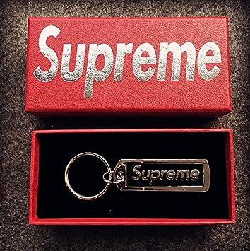 NEW Supreme Box Logo Metal Pendant Keychain