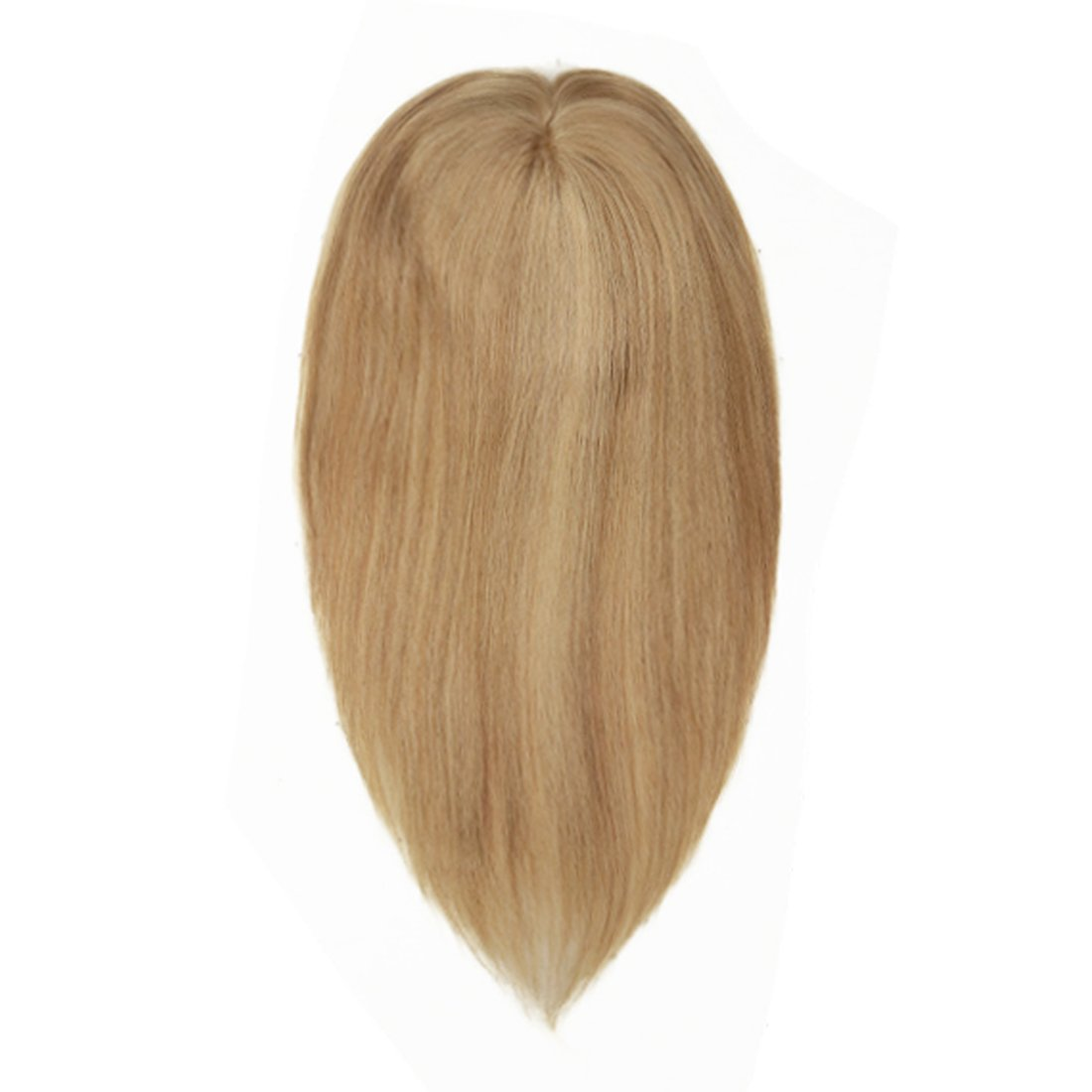 UniWigs 5.5''5.5'' Claire Virgin Remy Human Mono Hair Topper, Y-22 Blonde Color, Hair Pieces for Hair Loss or Thin Hair (12'') by uniwigs (Image #1)