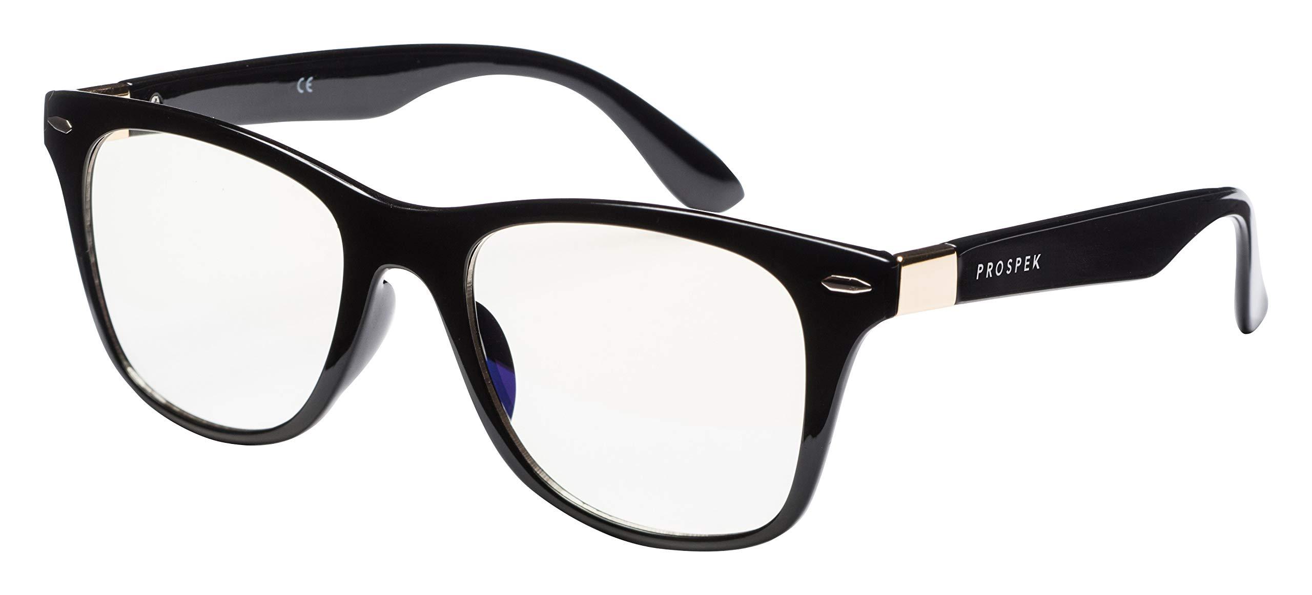 PROSPEK - Anti Blue Light Computer Glasses - Wayfarer - Protect Your Eyes. Manufactured by Spektrum Glasses