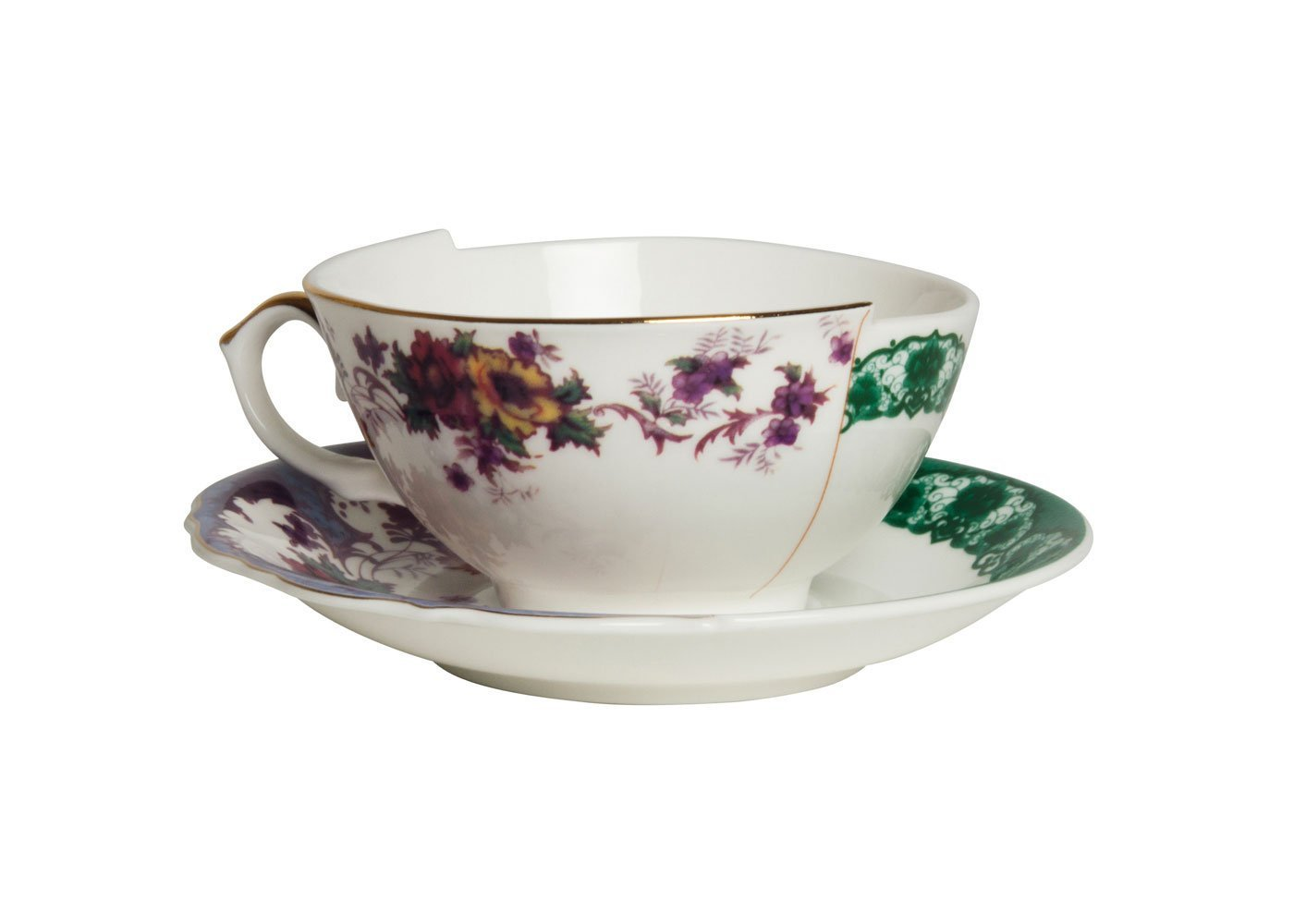 Seletti Fine Bone China Tea Cup with Saucer Isidora