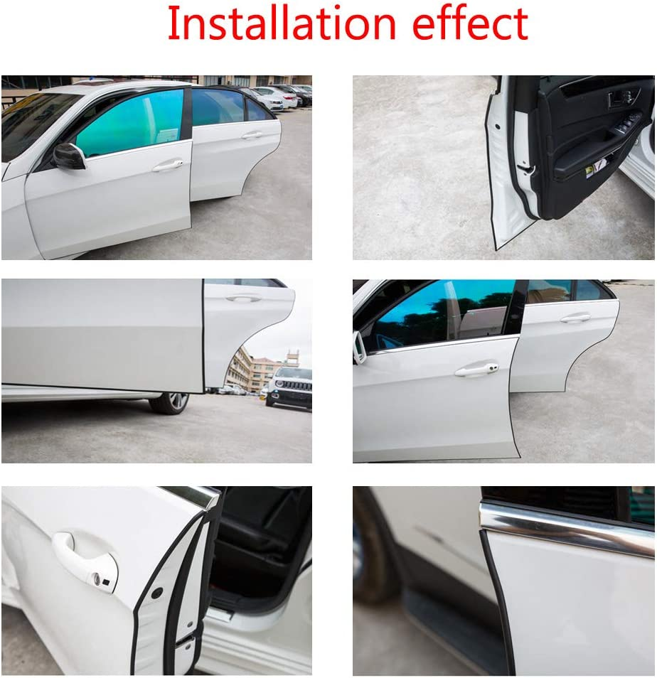ESUPPORT 16ft 5M U Shape Car Door Moulding Rubber Scratch Protector Strip Edge Guard Trim Seal Blue