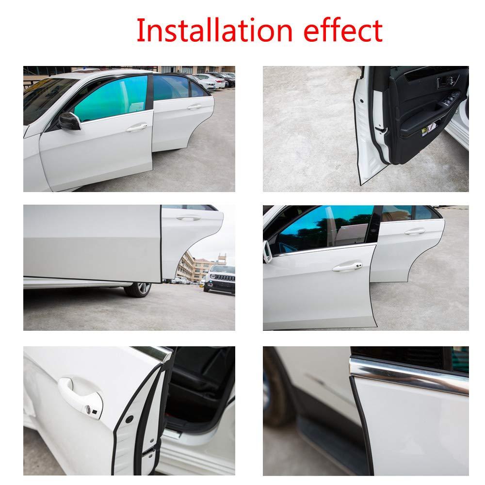 ESUPPORT 16ft 5M U Shape Car Door Moulding Rubber Scratch Protector Strip Edge Guard Trim Seal White