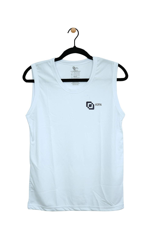 AWhite Sleeveless T-Shirt For Men's