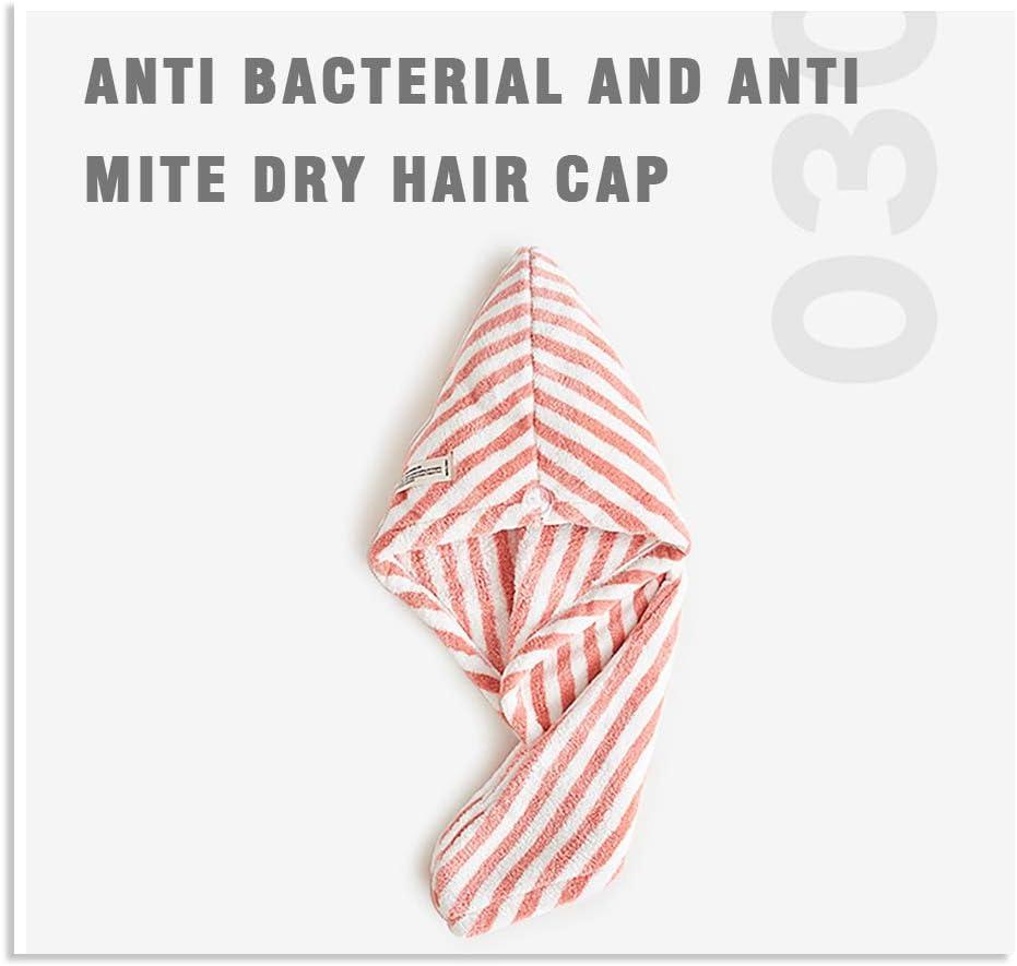 Toalla para la Cabeza para Mujeres y ni/ñas Gruesa Fyore Toalla de Microfibra para el Pelo de Secado r/ápido Seca Rosa
