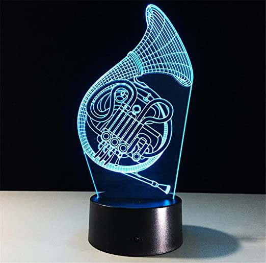 Luz de noche Saxofón Desk Lamp 3d 7 colores Cambio Touch ...