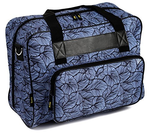 New Kenley Sewing Machine Tote Bag - Padded Storage Cover Carrying Case with Pockets and Handles - U...