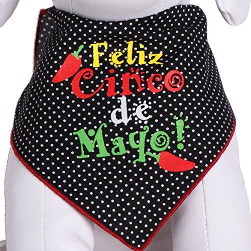 Tail Trends Feliz Cinco de Mayo Dog Bandanas for Medium to Large Sized Dogs - 100% Cotton (L)]()