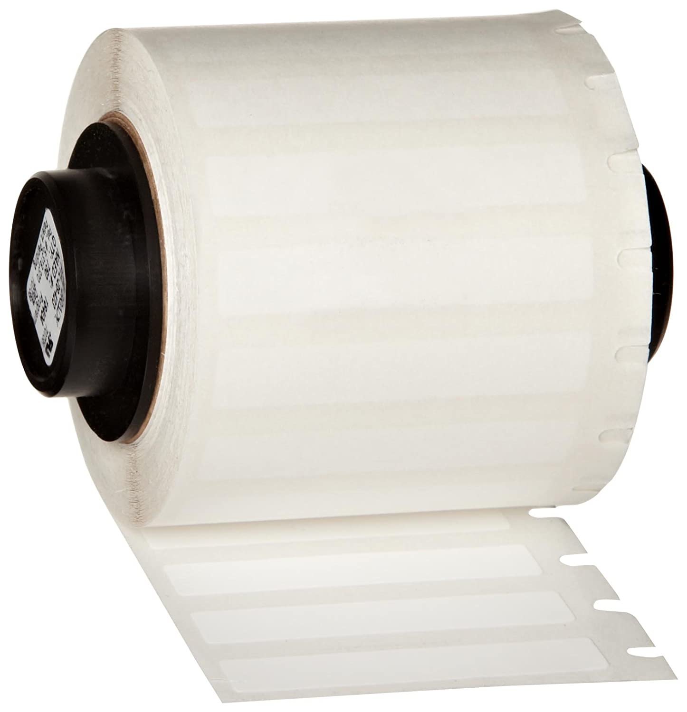 Gloss Finish White Thermal Transfer Portable Printer BradyBondz Label 500 per Roll Brady PTL-4-423 TLS 2200 and TLS PC Link 0.4 Width x 0.4 Height B-423 Permanent Polyester