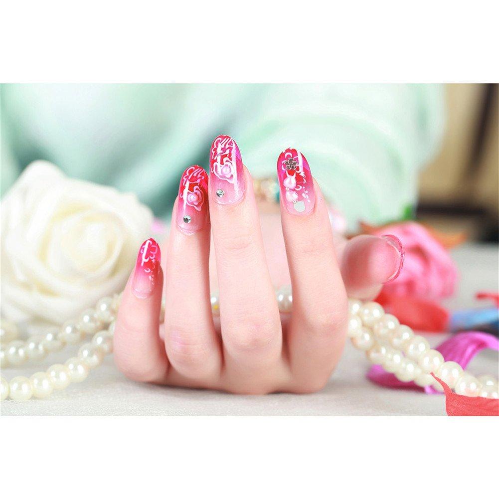 24Stk, Bling Bling Braut Nails Französisch Maniküre Nageldesign ...