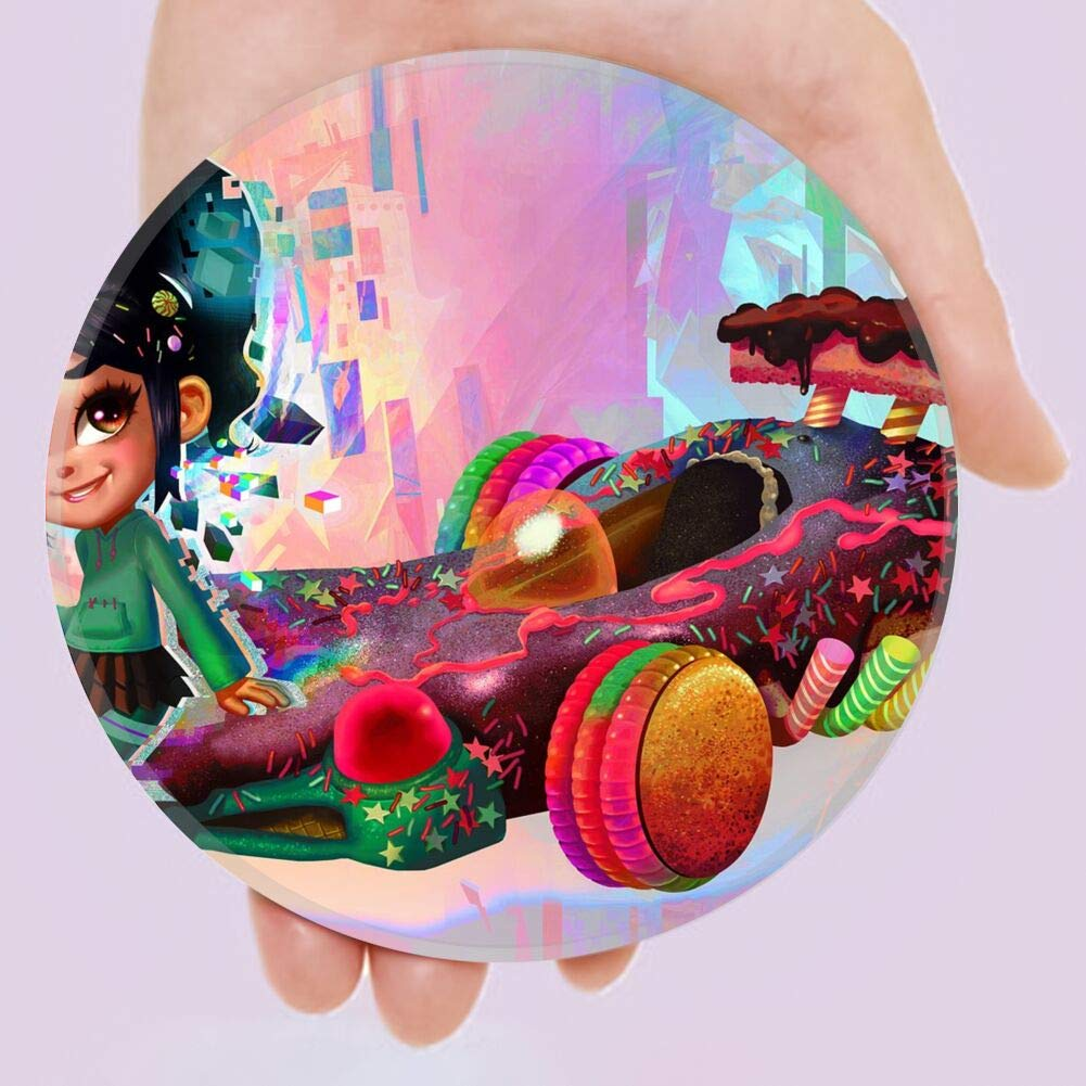 DISNEY COLLECTION Coaster Candy Car Kart Lollipop Vanellope von Schweetz Fashion Cute Drink Ceramic Smooth Cork Base Durable Coaster Suitable for All Cups