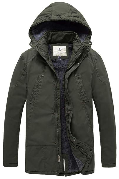 Amazon.com: WenVen - Chaqueta de invierno con capucha para ...