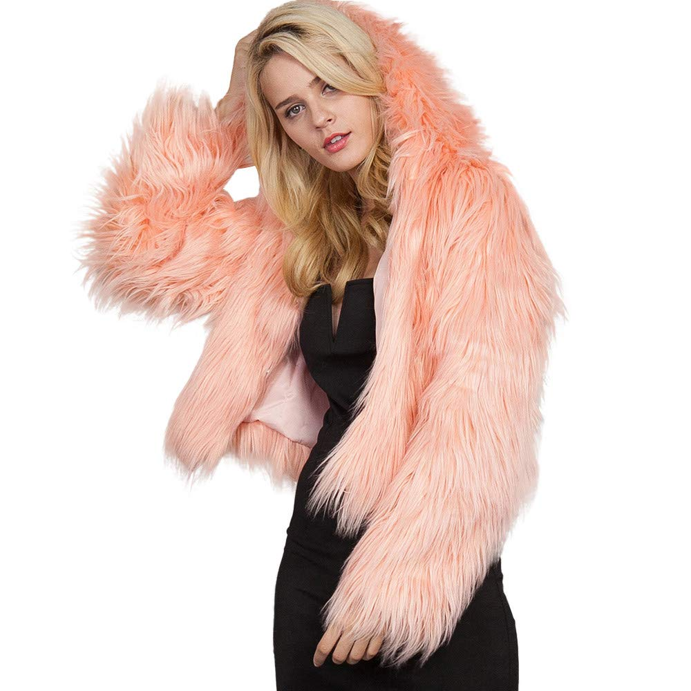 Sales Jackets Winter Warm Faux Fur Coat Cardigan Coat Suit AfterSo Womens