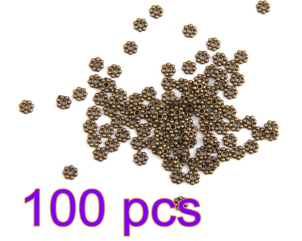 100 x Silver Plated Stardust Ball Spacer Beads 4mm - Beading Crafting Jewellery Making Findings Beads and Charms