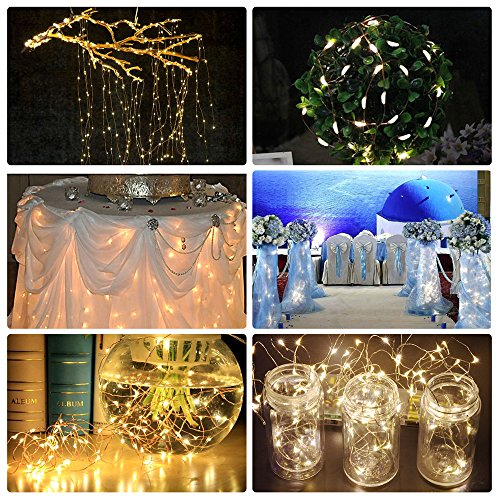 Solar String Lights, Ankway 200 LED Solar Fairy Lights 3-Strand 8 Modes 72 ft Waterproof IP65 Solar Powered String Lights Outdoor for Home Window Bedroom Patio Garden Indoor Warm White by Ankway (Image #4)