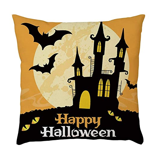 MAYOGO Happy Halloween Funda de cojín Cuadrado 45 x 45 cm ...