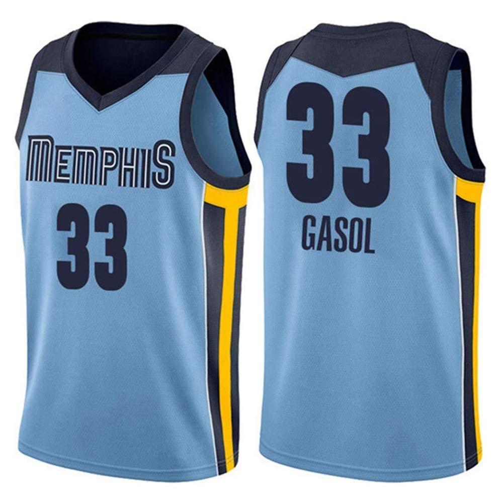 NBALL-HU Camiseta De Baloncesto Azul para Hombre Memphis Grizzlies ...