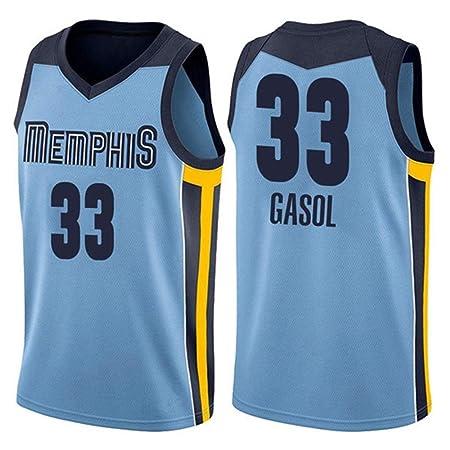 NBALL-HU Camiseta De Baloncesto Azul para Hombre Memphis ...