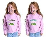 Feed Me Toddler Long Sleeve Sweatshirt Twin Set