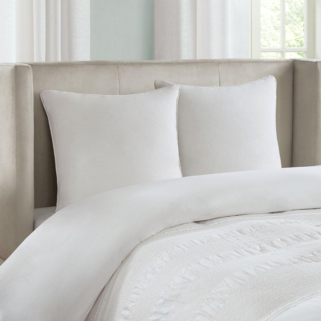 Echo Bedding EO11-1693A Crete European Sham 26 x 26 White
