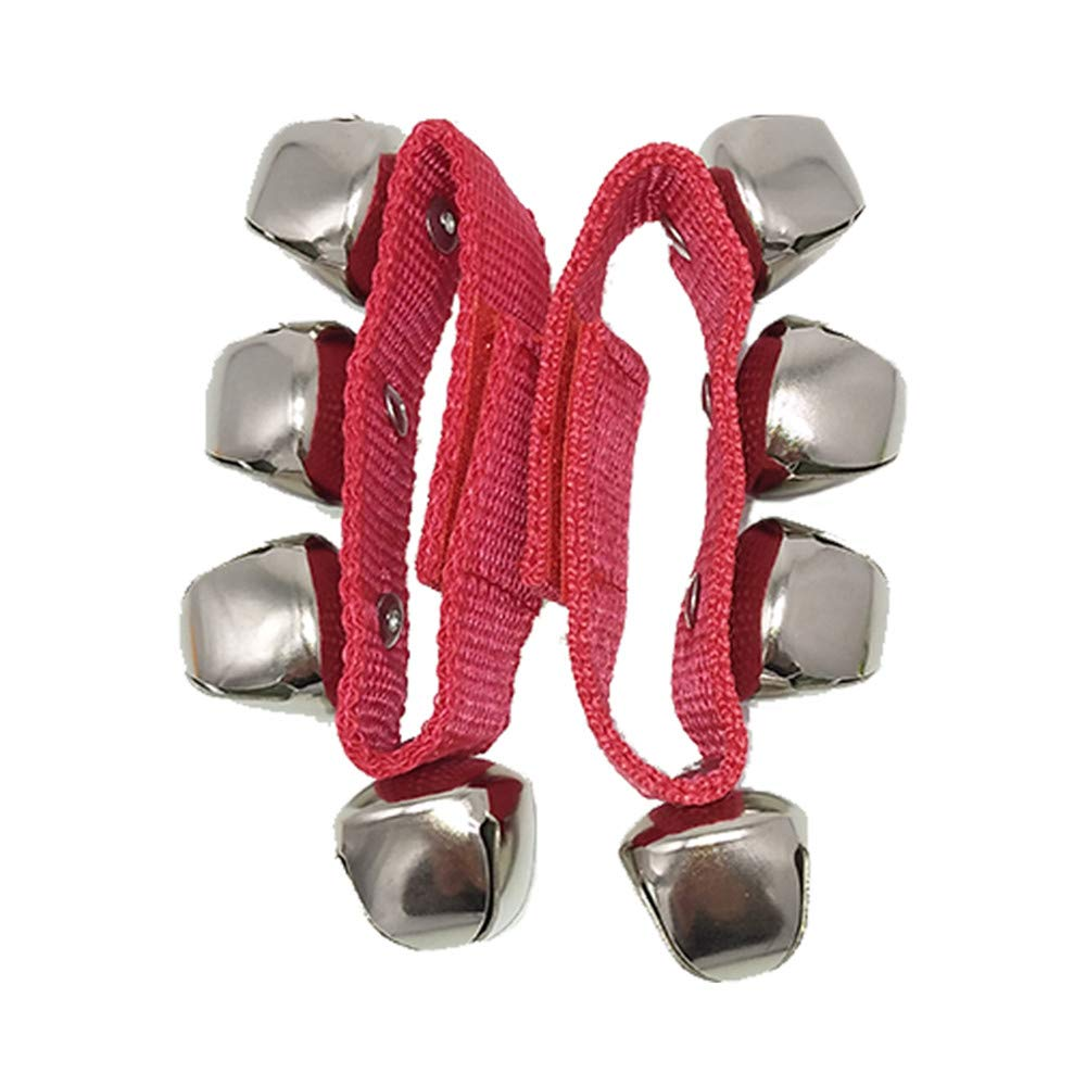 Blue Baby Kids Nylon Wrist Foot Bells Rattles Ring Toy Bracelet 23*2.5cm KEISL 2pcs Wrist Jingle Bells