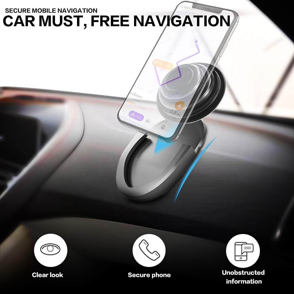 Office Home Black Minso 3 Pack Car Mount,for Phone Pop Up Grip Stand and Grips,Coolest Collapsible Grip Stand,Strongest /& Most Durable Pop Up Grip Holder Use for in Car
