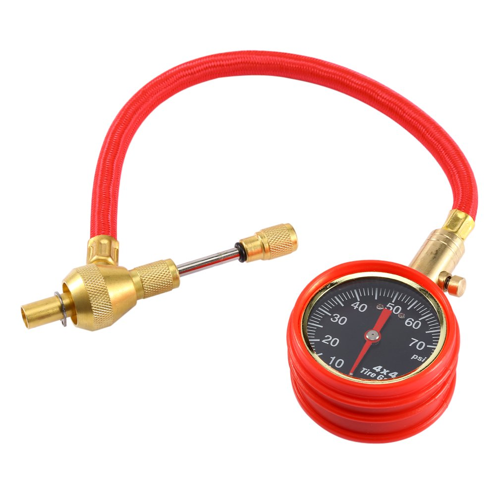 Tire Deflator Pressure Gauge,Rapid Heavy Duty Tyre Air Deflators 4WD Gauge Kit Valve Tool for Auto, Motorcycle and Bicycle - 60 PSI by Estink
