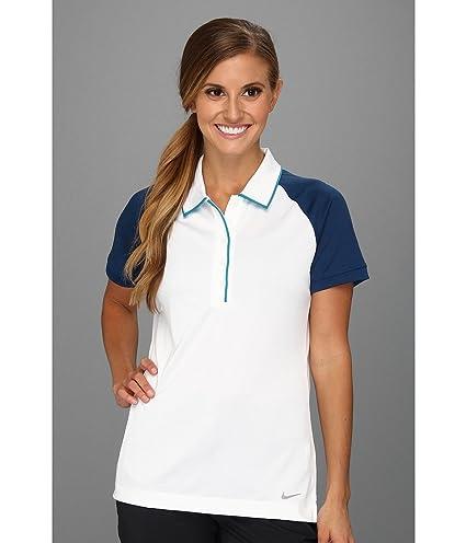 0b4594ce Amazon.com : Nike Women's Dri-Fit Two-Toned Novelty Golf Polo Shirt ...