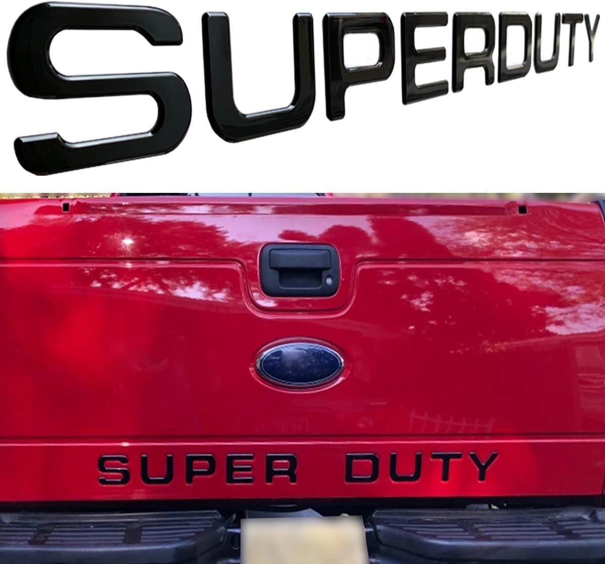 KENPENRI Tailgate Insert Letters for Ford Super Duty 2008-2016 3M Adhesive /& 3D Raised Tailgate Letters Matte Black