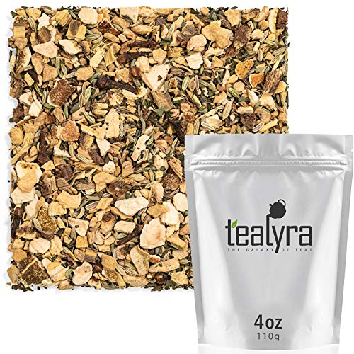 Tealyra - Thriving Throat - Fennel - Echinacea - Clove - Herbal Digestive and Detox - Loose Leaf Tea - Vitamines Rich - Caffeine-Free - 110g (4-ounce)