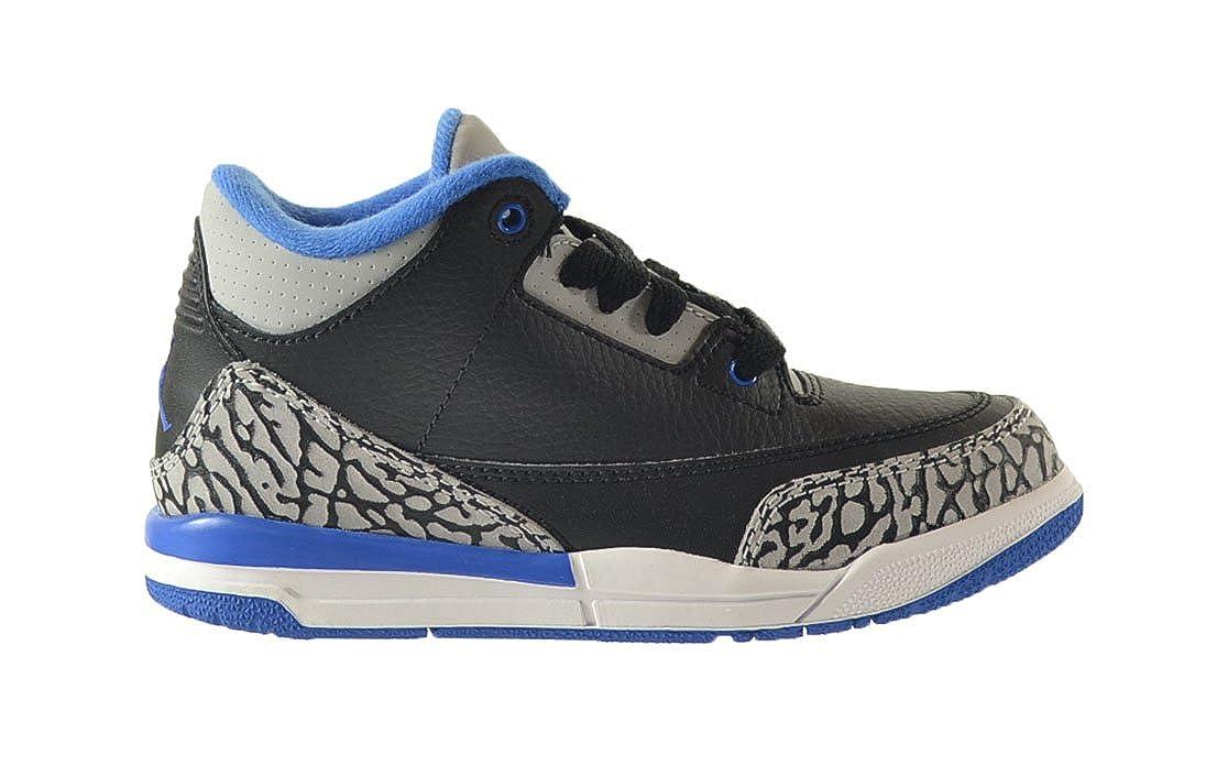 5a5b71464f Amazon.com | Jordan 3 Retro BP Little Kids Shoes Black/Sport Blue-Wolf Grey  429487-007 (3 M US) | Sneakers