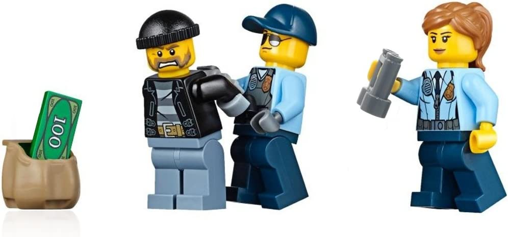 LEGO City Police Minifigure Combo Pack: Police - Run Away Bandit, Male Cop, & Female Cop (60130)