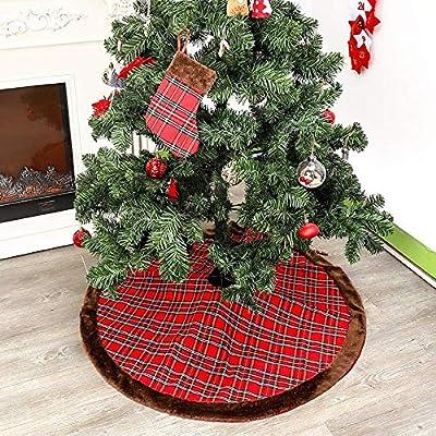 Detazhi Disposición de árbol de Navidad Falda Chimenea Calcetines ...