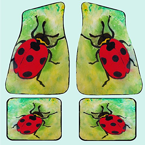 Lady Bug Auto Car Floor Mats (Rear pair 17 x 13) by xmarc (Image #1)'
