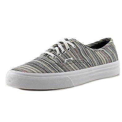 a5eae67c6d91 Vans Women s Textile Stripes Authentic Shoes US4 White