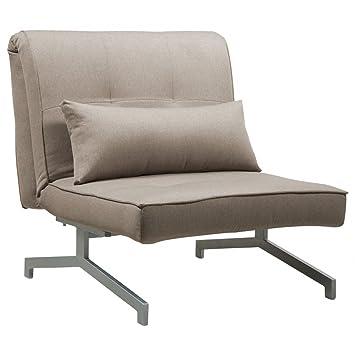 Ohrensessel mit schlaffunktion  Schlafsessel Beige-Grau Designer Sessel mit Schlaffunktion: Amazon ...