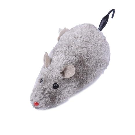Mascota Ratón grande juguetes para gatos de peluche (color al azar)