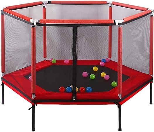 Trampolín Trampolín con cerramiento de Red, Interior Kids Mini Fitness Trampolín Rebote de Rebote silencioso y Seguro for Interior/jardín/Entrenamiento Cardio (Color : Red, Size : 62in): Amazon.es: Hogar