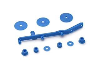 Slot.it CH98c Tensioner, flanges and spacers for 4WD System, cyan