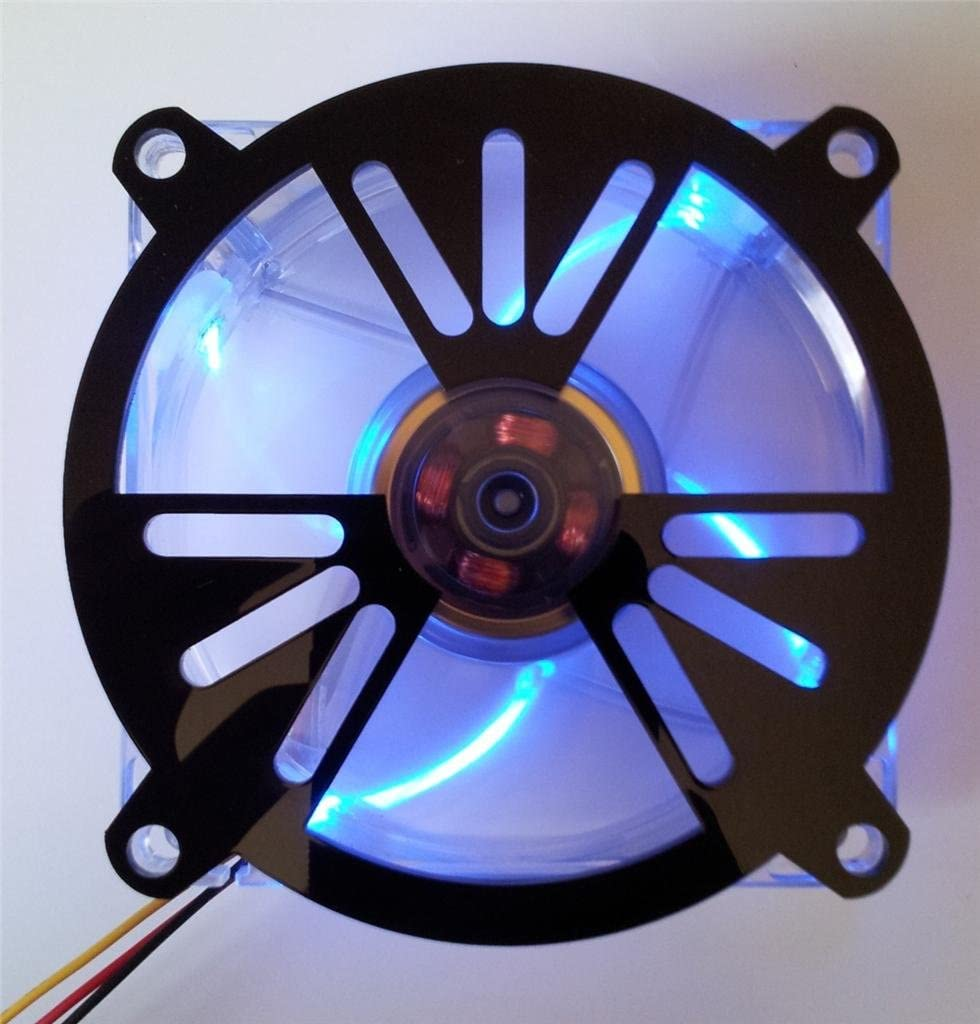Custom Acrylic Nuclear Radiation Symbol Computer Fan Grill 92mm