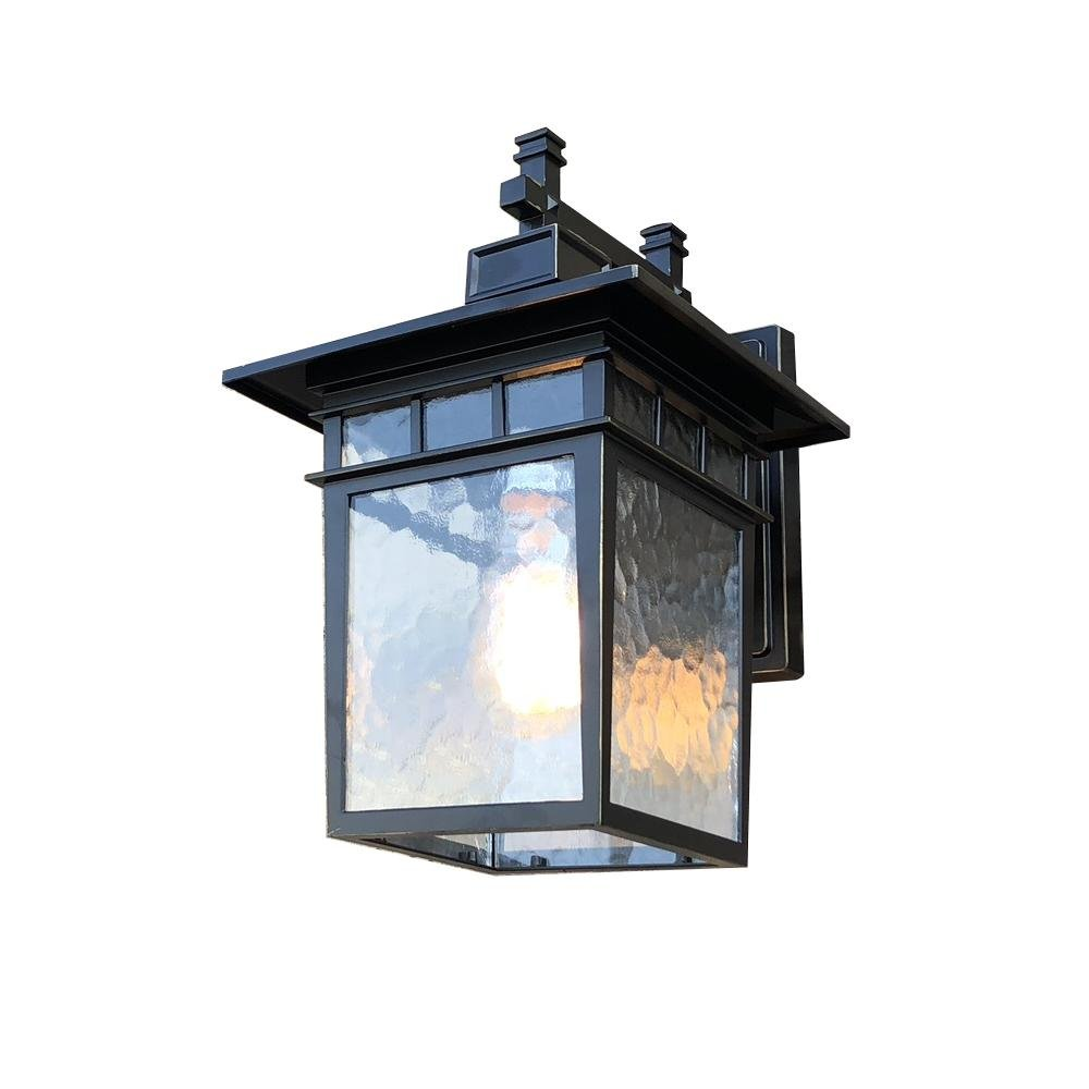 Y-Decor EL727LBL Cullen 1 Imperial Black Finish Exterior Light