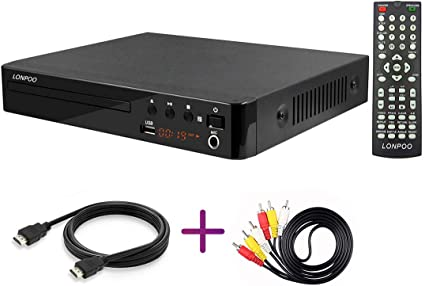 LP-099 Reproductor de DVD (Full HD, HDMI, USB, Multi Region Code ...