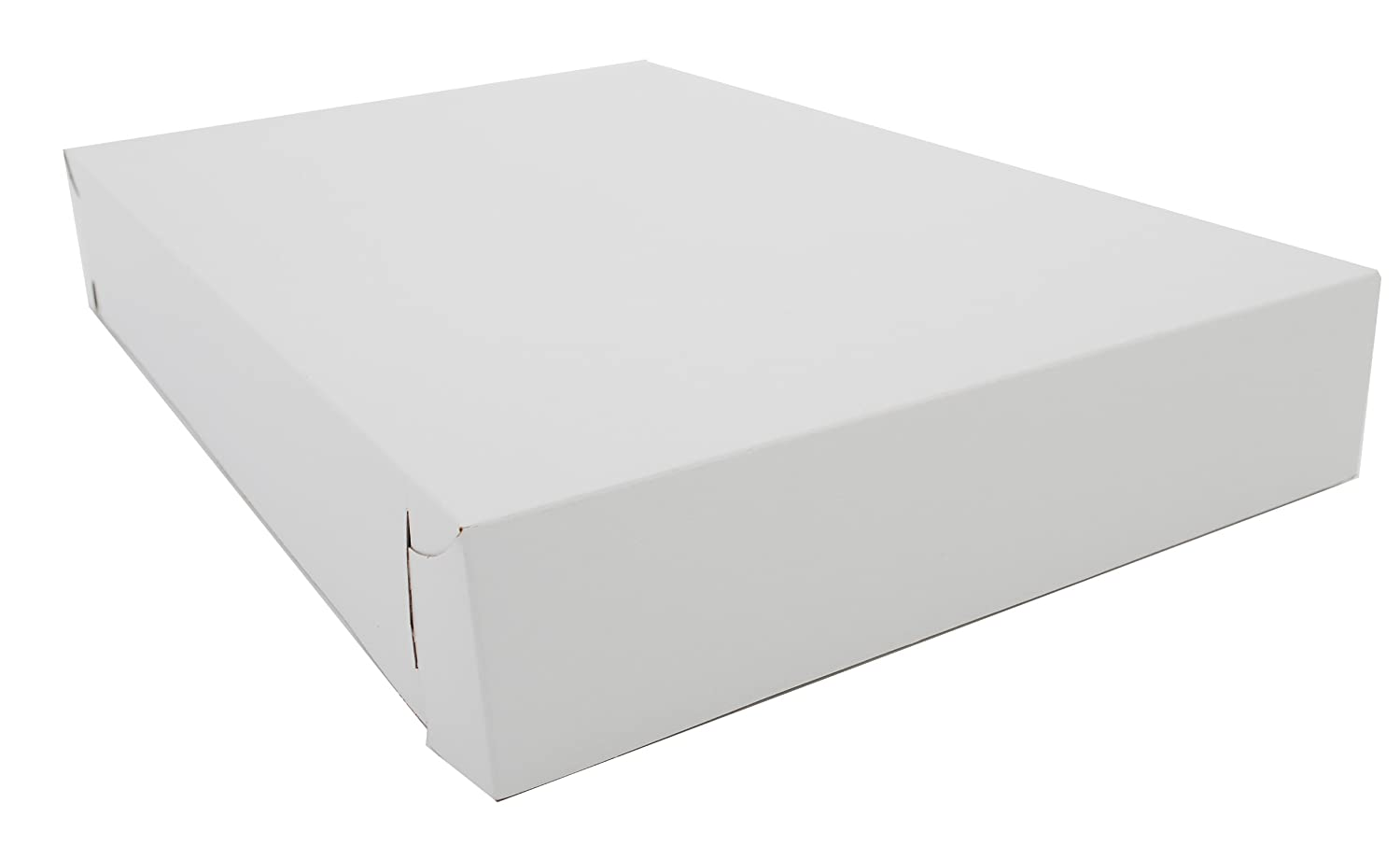 Southern Champion Tray 2021 Clay Coated Kraft Paperboard White Lock Corner Donut Tray, 17