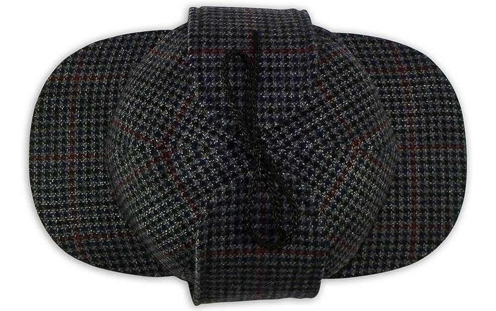 9167 Pasquale Cutarelli Mens Wool Tweed Deerstalker Hat