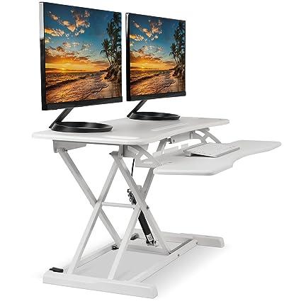 Amazon Com Standing Desk Converter Computer Table Stand Up Desk
