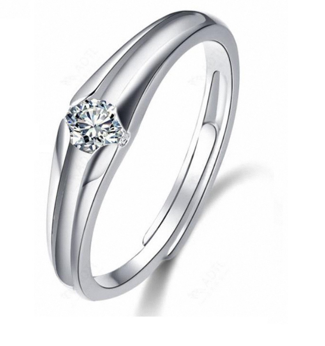 Tyzon Solid 925 Sterling Silver Love Promise Ring,Engagement Wedding Silver Ring
