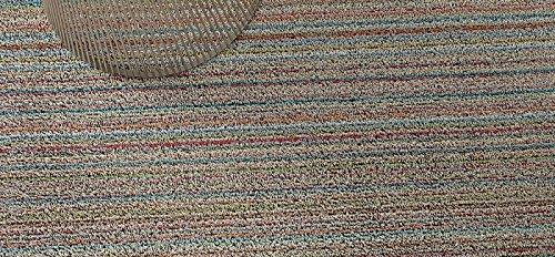 Chilewich Shag Skinny Stripe Floormat Runner 24'' X 72'' Soft Multi by Chilewich