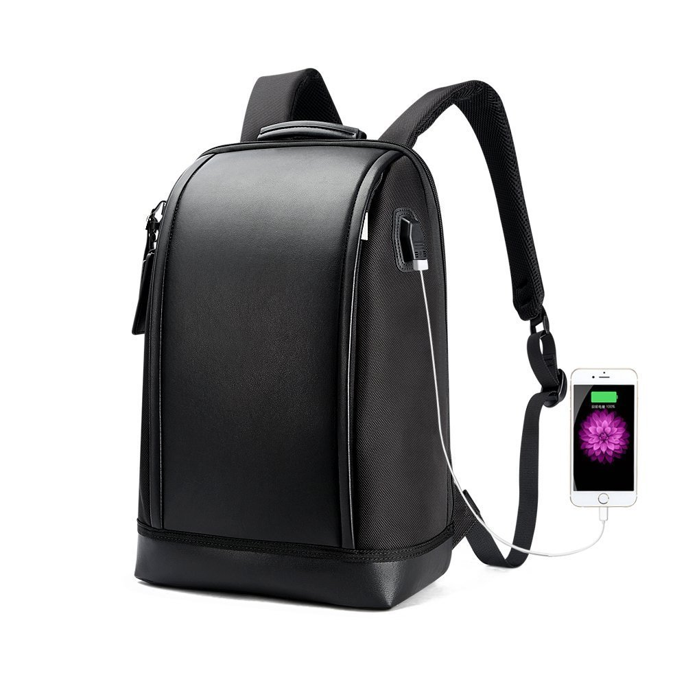 Bopai Business 15.6 inch Laptop Backpack Invisible Water Bottle Pocket  Anti-theft Laptop Rucksack USB Charging Port and Anti-explosion Zipper  Water ... 90e506820b7a2
